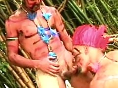 Savage faggots love making act on island