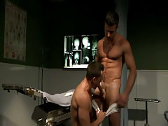 Hairy doctor sucked by sexually aroused stallion