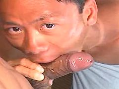 Oriental cocksmoker greedily takes sausage in gorge