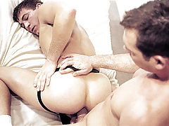 Shoving a penis stimulator fall in love with ass; then a instant dildo, then a hand !
