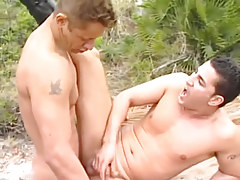 Raunchy lovers lick dicks on the coast in 4 motion picture