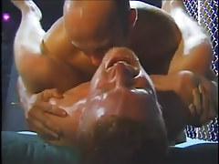 Hunky damp white guys enjoy gay group love making act in 4 episode