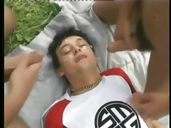 Intense bareback gay anal sex in a field in 6 movie scene