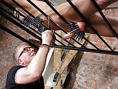 Draining A Slave Males Cock - Reece Bentley And Sebastian Kane