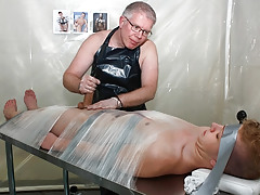 Taped Down Gay Drained Of Jizz - Alex Silvers And Sebatian Kane