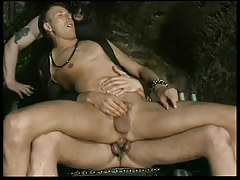 Infatuation leather homosexual guys in dungeon in 2 episode