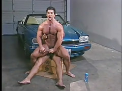 Gay muscle studs have hot anal in garage in 6 episode