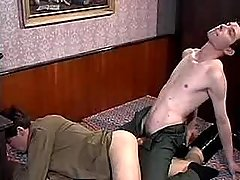 Twinks ball cream mightily afterwards anal sex