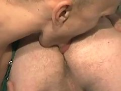 Gay worker licks males a-hole and sucks dick
