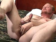 Mature homo masturbates and caresses gap