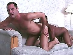 Black faggot delightsome sensible anal reaming