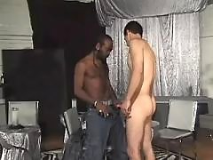 Black faggot acquires massive ass nailing