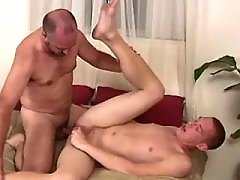 Filthy bear spoiling amateur homosexual