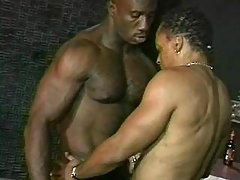 Black man-lover slut serving lewd hunk