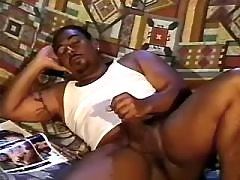 Black gay slummed by handsome man