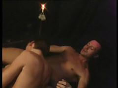 Gay boyish sub serves lusty daddy