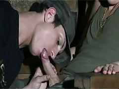 Military twink sucks his mate