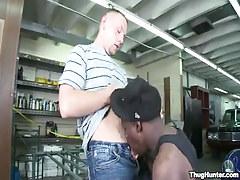 Gay boy sucked by ebony guy